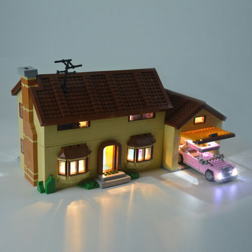LED Lighting Beleuchtung Licht Für LEGO 71006 Toys The Simpsons House DIY Light