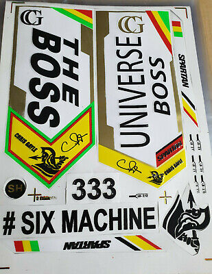 1 2D STICKER FREE 3D//EMBOSSED SPARTAN MSD 7 LIMITED EDITION CRICKET BAT STICKER
