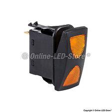 OLS 14V DC 20A 4-Pin Amber LED ON-OFF-ON SPDT Rocker Switch (3 Position)
