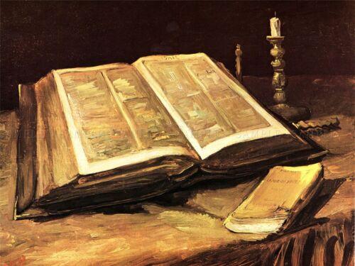 VINCENT VAN GOGH STILL LIFE WITH BIBLE OLD MASTER ART PAINTING PRINT 2928OMLV
