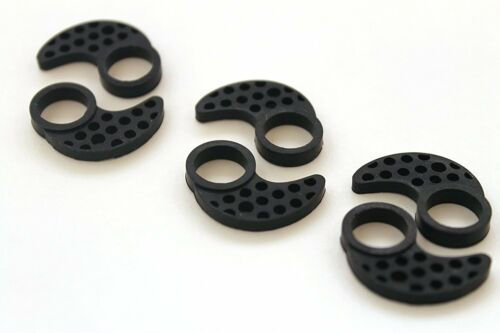 Small Brand New REPLACEMENT SILICONE EAR FINS FOR JAYBIRD BLUEBUDS X 3 PAIRS