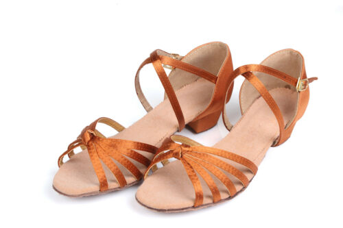 Ballroom Salsa tango latin dance shoes For children girls women kids 18.5-25CM