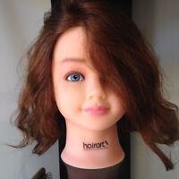 Child Cosmetology Mannequin Head 100% Human Hair - Nicki 4012 By Hairart