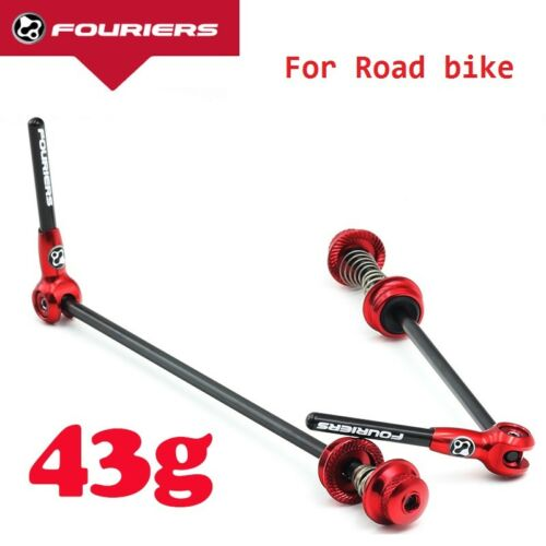 Fouriers Road bike Quick Release Titanium Axel With Carbon Lever QR Skewers