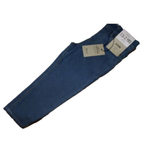 NEW GIRLS EX STORE MID BLUE STRETCH DENIM SKINNY JEGGINGS JEANS Age 1-7 years