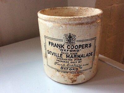 VINTAGE 2lb SIZE FRANK COOPER'S OXFORD SEVILLE MARMALADE POT or JAR