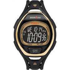 Timex IRONMAN Sleek 50 Full-Size | Gold Dial Black Strap | Sport Watch TW5M06000