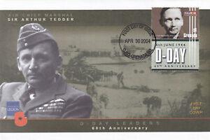 (28404) Grenade Fdc Signé D-day 2004 No Insert-afficher Le Titre D'origine