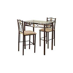 3 Piece Palladium Bistro Set Metal/Bronze