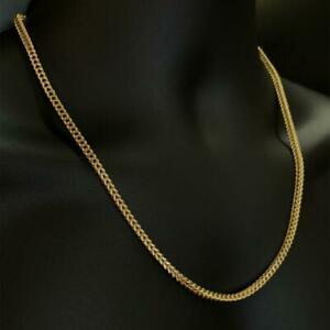 10kt Yellow Gold Diamond Cut Franco Link Chain 3.5 mm 22 Inches 15 grams Canada Preview