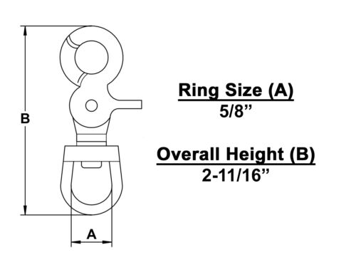 Keystone Mfg 5013Z Trigger Snap Hook w//Round Eye Zinc Diecast