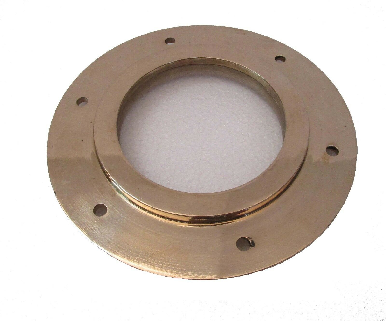 Marine BRASS PORT HOLE   Window   Porthole - 4 INCHES - TOUGHENED GLASS (5225)