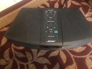 Bose Wave Radio Model AWR1-1W AM/FM Alarm Stereo - No Remote - Black