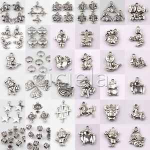 Wholesale-Bulk-Beads-Charms-Lots-Tibetan-Silver-Pendant-Jewelry-Chain-Crafts-DIY