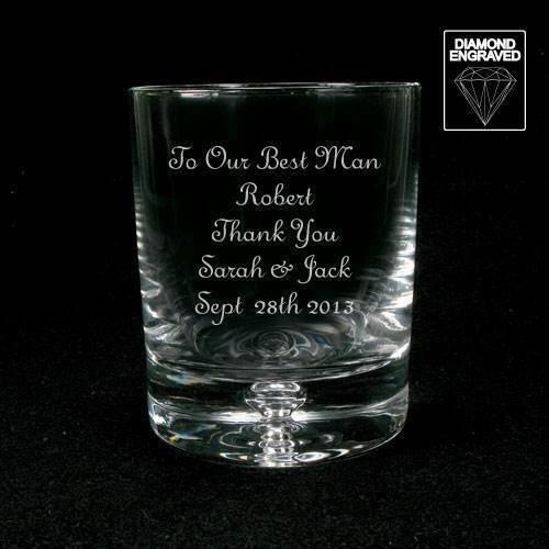 Usher Pageboy Gift Free Box Personalised Engraved Whisky Glass Wedding Best Man