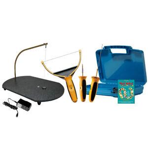 Mesa De Desplazamiento mini de corte de Espuma de Poliestireno Espuma W esculpir Grabador herramientas y cuchillo caliente