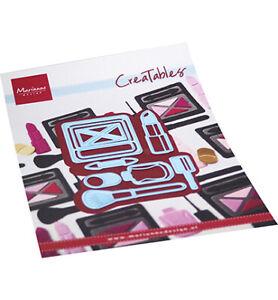 Stanz-schablone Cutting die Make-up Set Lippenstift Brush Marianne Design LR0704