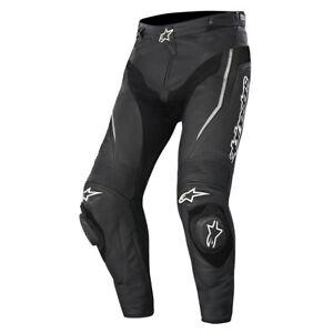 Alpinestars-Track-Cuero-Pantalones-de-Moto-Negro