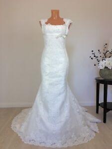 Pronovias Brautkleid Hochzeitskleid Mermaid Spitze Gr S 36 38 Ivory
