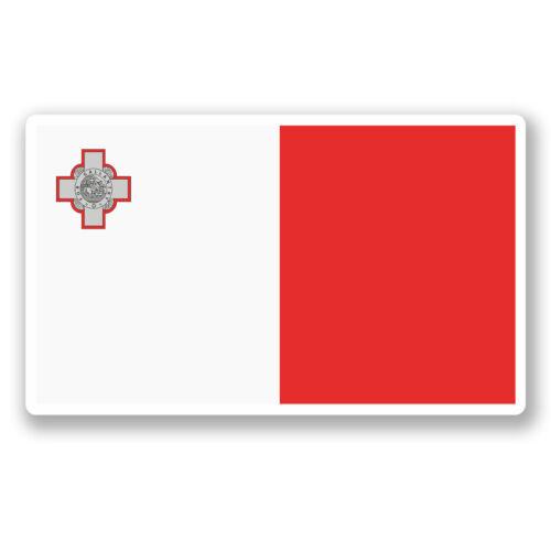 2 X 10 Cm Malta Bandera pegatina de vinilo Ipad Laptop viaje en automóvil etiqueta del equipaje divertido # 5297