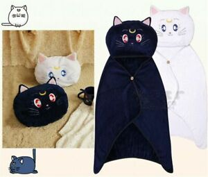 Anime-Sailor-Moon-Cat-Cloak-Shawls-Hooded-Blankets-Cover-Cosplay-Coral-Fleece
