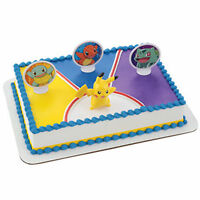 Pokemon Light Up Pikachu 4 Piece Cake Kit Decoration Supplies Party Favors