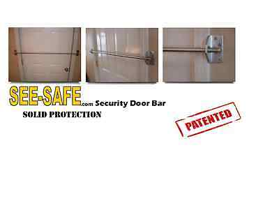 See Safe Home Security Solid Secure Door Bar Lock
