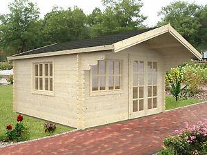 34 mm Gartenhaus Baily 4x3,20 m Holzhaus Blockhaus Gerätehaus Holz