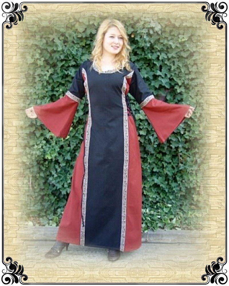 Mittelalter Kleid Amelie Gewand schwarz rot S-XXXL  | Louis, ausführlich  | Ausgezeichnetes Preis  | Stabile Qualität  | Niedriger Preis  | Reparieren