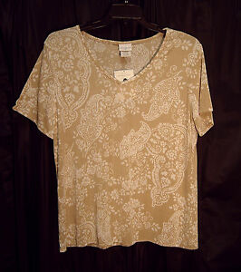 WOW-SOFT-SLINKY-STRETCHY-KNIT-PAISLEY-FLORAL-TRAVEL-TUNIC-TOP-BLOUSE-XXL-0X-NEW