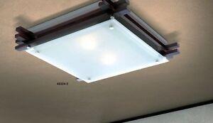 Plafoniere Design : Plafoniera design moderno lampadario vetro legno lampada da