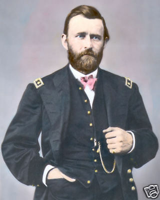 """Ulysses S Grant From West Point To Appomattox 8/""""x10/"""" Real Canvas Art Print New"""
