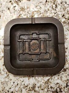 Bronze-Antique-Vintage-Ashtray-71-2-034-x-7-034-x-1-034-Heavy-Hard-To-Find