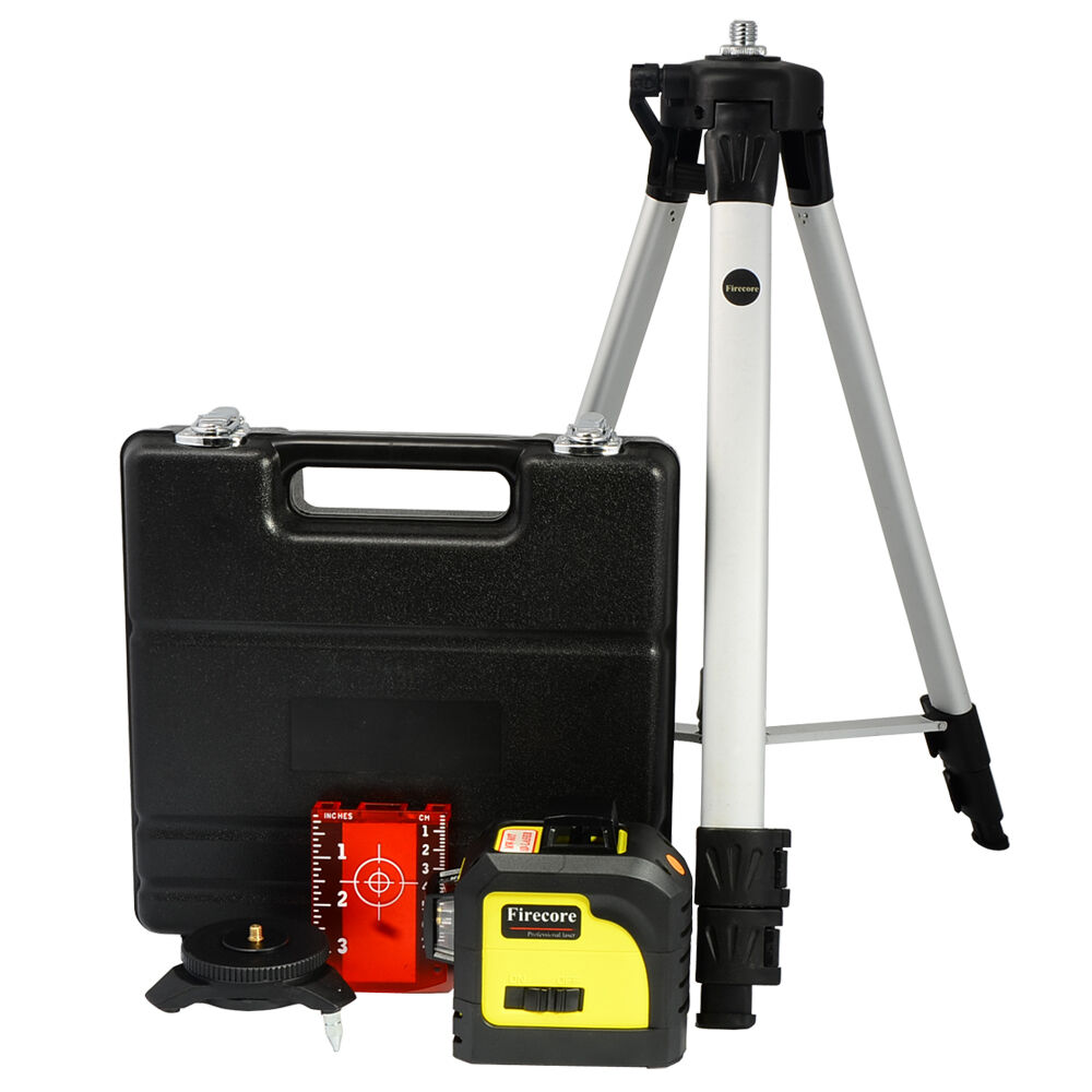 3D Cross Line Red Laser Level Self Leveling 12 Lines 360 Degree+1.4M Tripod+Case