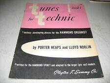TUNES FOR TECHNIC BOOK 1 HAMMOND ORGANS SHEET MUSIC SONGBOOK 1954 20pgs