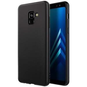 Huelle-fuer-Samsung-Galaxy-A8-Schutzhuelle-Handy-Huelle-Slim-Case-Weich-Matt-Schwarz
