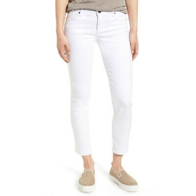 Kut From The Kloth Catherine Ankle Straight Leg Jean, White, 4 To Prevent And Cure Diseases