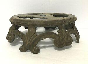 VTG-Antique-Art-Deco-Ornate-bronze-multi-Footed-Table-Lamp-Base-Parts-or-Restore