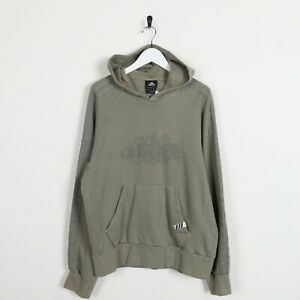 Vintage-ADIDAS-Big-Logo-Hoodie-Sweatshirt-Green-Medium-M