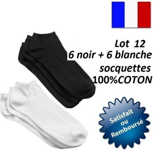 SOCQUETTES FEMME HOMME ENFANT UNI COTON SOCKS POINTE TALON RENFORCE CHAUSSETTE