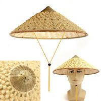 Asian Vietnamese Japanese Coolie Straw Bamboo Cone Sun Hat Garden Farmer Fishing