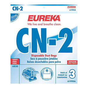 Eureka-CN-2-Vacuum-bags-3pk-Part-61990A-Fits-6830-PowerTeam-Canister-Vacuums