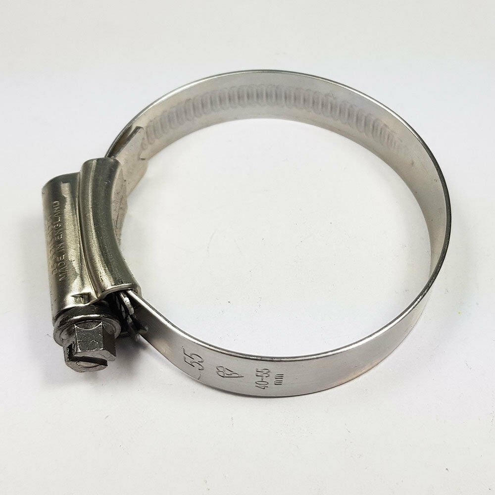 Stainless Steel Hose Clips Jubilee Clip 40mm-55mm JCS Hi-Grip 2 Tubing Worm