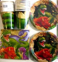 Dino Blast Dinosaur Birthday Party Supply Kit W/plates,napkins,cups & Invites