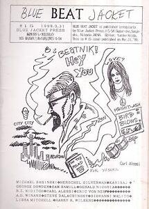 BLUE BEAT JACKET #15 3/1999 BEAT MAG FROM JAPAN RAY BREMSER HERSCHEL SILVERMAN