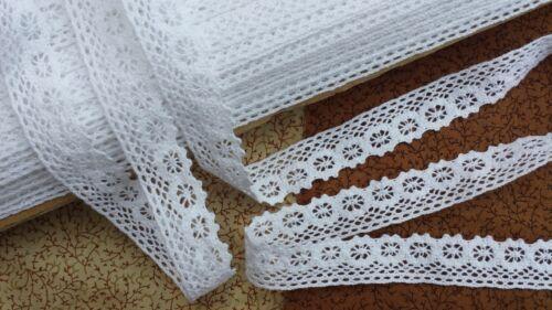 10m Vintage style 2cm Cotton crochet scallop lace edge trim white Ribbon Wedding