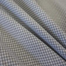 Stoff Meterware Vichykaro Vichy Karo grau weiß Baumwollstoff kariert 2 mm Mini