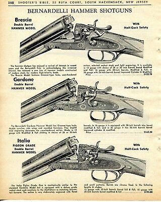 1964 Print Ad of Bernardelli Brescia, Gardone & Italia DB Hammer Shotgun |  eBay