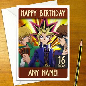 Yu-Gi-Oh-tarjeta-De-Cumpleanos-Personalizados-Anime-Personalizado-Yugi-Kaiba-Yu-Gi-Oh