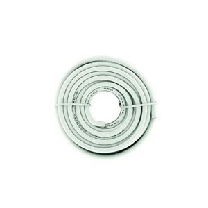 GAMMA-Cable-coaxial-cable-coaxial-cable-d-039-antenne-20m-4-9-mm-Blanc